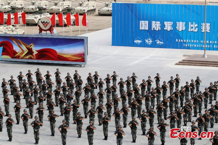 The opening ceremony of the International Army Games 2018, July 29, 2018. Three of the four contests, \
