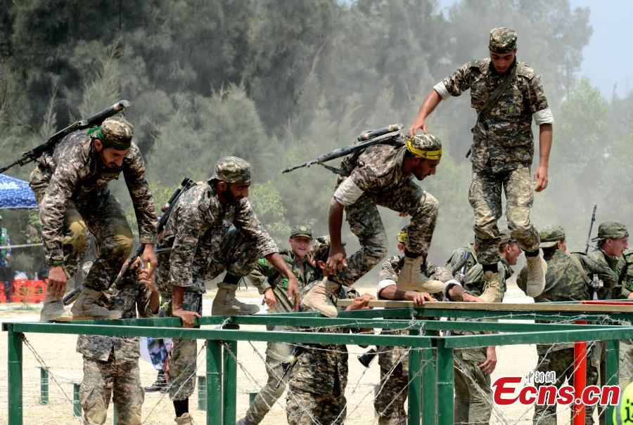 Iranian soldiers participate in the \