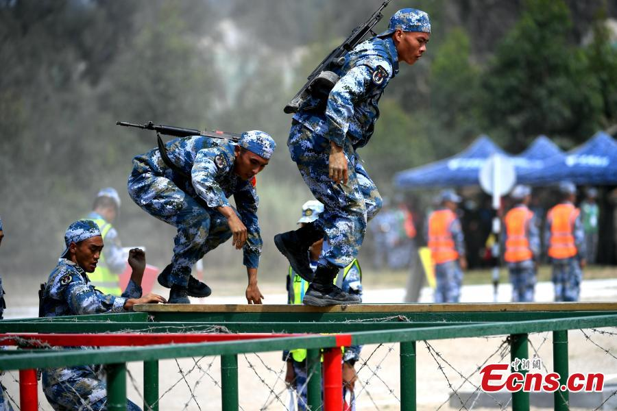 Chinese soldiers participate in the \