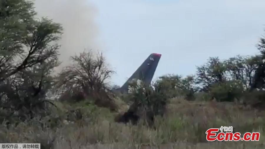 Smoke billows above an Aeromexico-operated Embraer passenger jet crashed in Mexico\'s northern state of Durango, July 31, 2018, in this still image taken from a video.(Photo/Agencies)