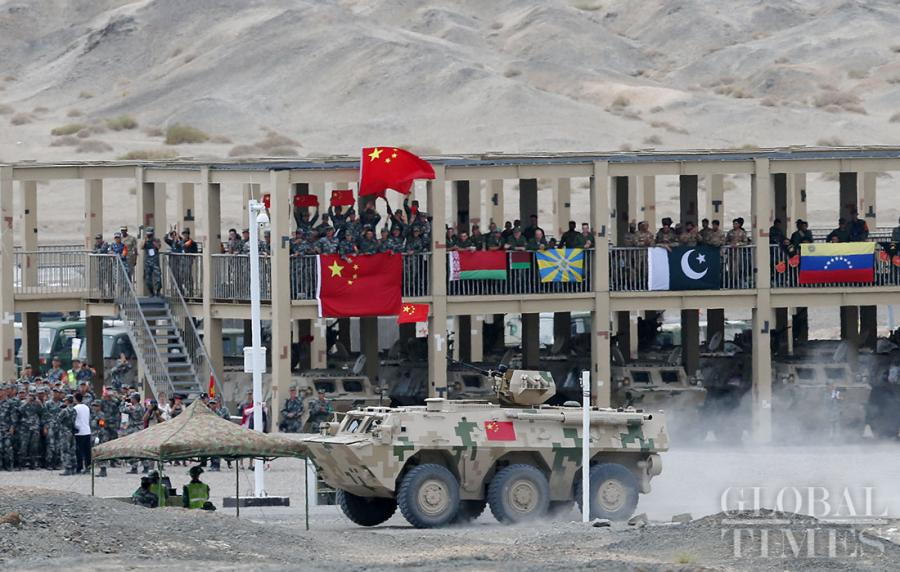 """The Chinese Air defense force detachment has secured a leading position over its competitors from Belarus, Egypt, Pakistan,Russia, Uzbekistan and Venezuela in the """"clear sky for air defense missile operators"""" segment of the International Army Games 2018 in Korla, Northwest China\'s Xinjiang Uyghur Autonomous Region on Tuesday. (Photos: Cui Meng/GT)"""
