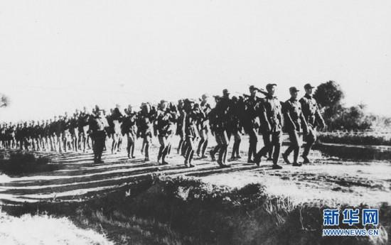 A file photo shows the Eighth Route Army led by CPC marching to the front in northern China on September 1937, during the War of Resistance Against Japanese Aggressions (1931 - 1945). (Photo/Xinhua) Japan invaded northeastern China in September 1931 and launched a full-scale invasion on July 7, 1937. The Battle of Pingxingguan took place in North China\'s Shanxi province in September 1937. The 115th Division of the Eighth Route Army, who were familiar with the mountainous area, cut off the enemy\'s logistics line and killed more than 1,000 Japanese troops in an ambush. It was the first victory and one of the key victories against Japanese aggressors.  From August 20 to December 15, 1940, the Eighth Route Army and the Japanese troops fought in the largest and longest battle in North China known as the Hundred Regiments Offensive.
