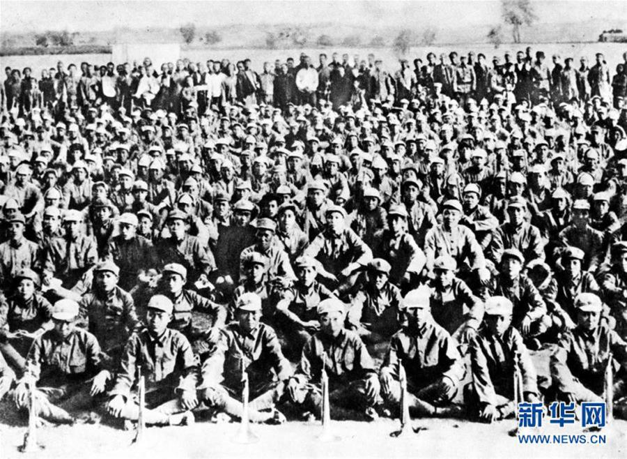 File photo shows the First Front Army of the Red Army. (Photo/Xinhua) The Long March, which lasted from October 1934 to October 1936, was a military maneuver by the Red Army, the forerunner of the People\'s Liberation Army. The route features raging rivers, snow-covered mountains and arid grasslands.  The three major forces of Red Army, the First, Second and Fourth Front Armies joined together in Northwest China\'s Gansu province, on October 1936.