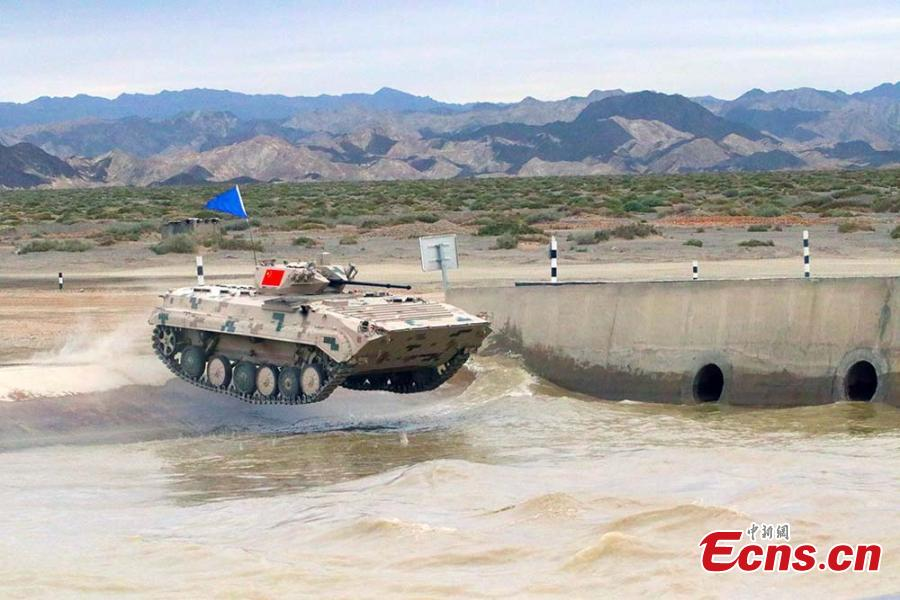 A Chinese infantry fighting vehicle during the \