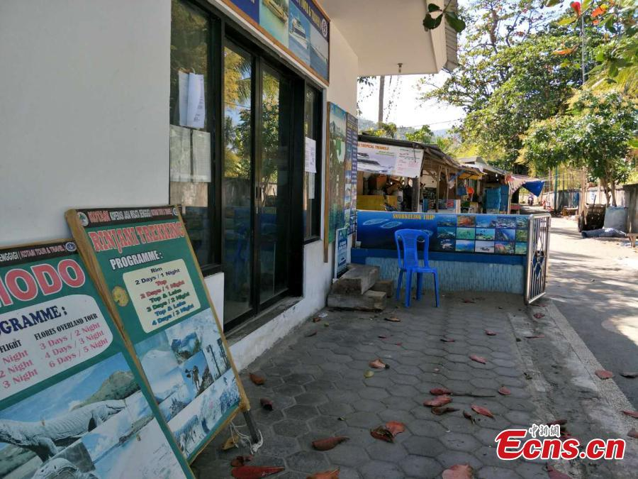 Photo taken on Aug. 7 shows an empty service station on the Lombok Island, Indonesia after a 7.0-magnitude earthquake hit the island on Aug. 5, 2018. (Photo: China News Servie/Lin Yongchuan)
