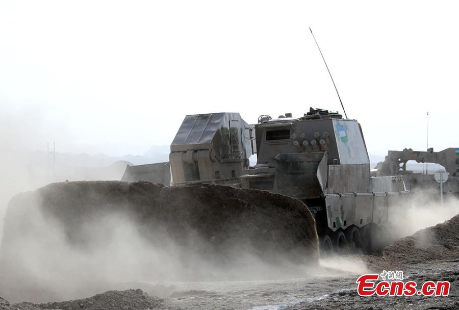 A foreign military vehicle in the \