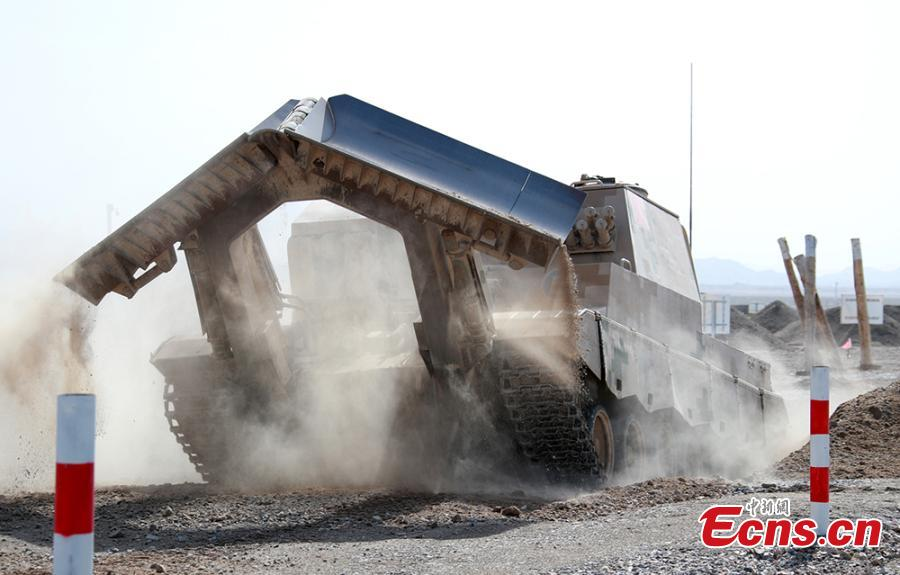 A Chinese military vehicle in the \