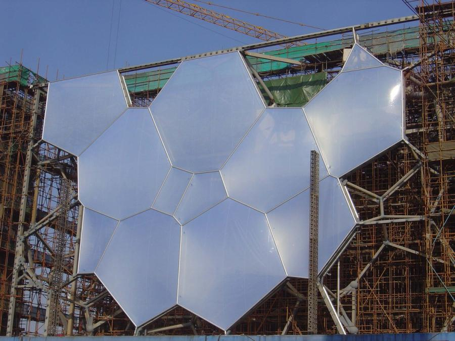 The structure takes shape. (Courtesy of Water Cube)