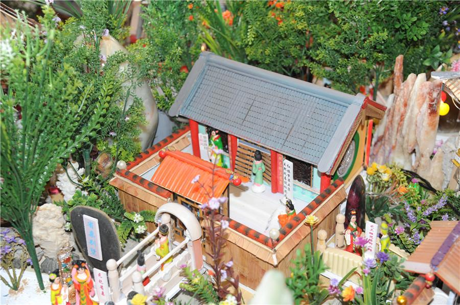 A view of the miniature landscape of the Grand View Garden, or Daguanyuan, created by Liu. (Photo by Zhang Qingyun/for or chinadaily.com.cn)