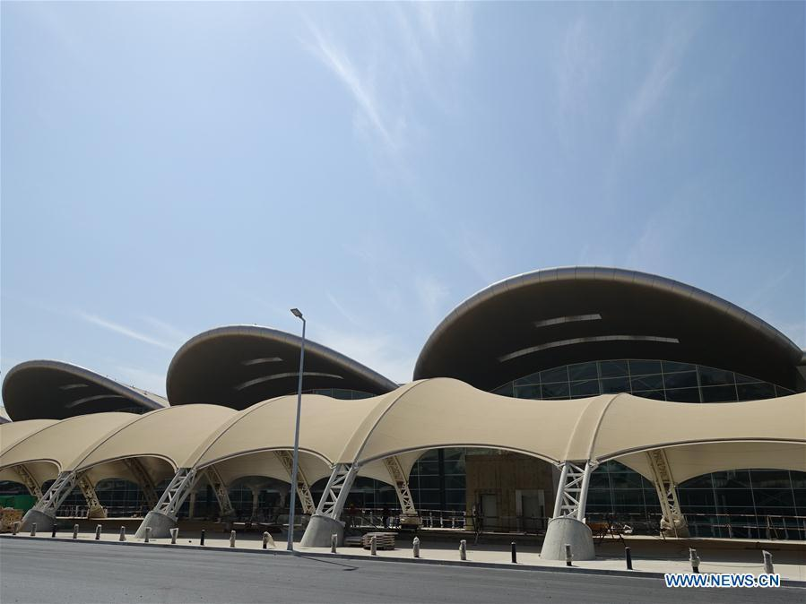 Photo taken on Aug. 10, 2018 shows the new Algiers Airport in Algeria. The construction of new Algiers Airport by China State Construction Engineering Corporation (CSCEC) will be completed soon. (Xinhua)