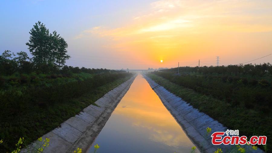 File photo of Baiqi Canal. (Photo provided to China News Service)