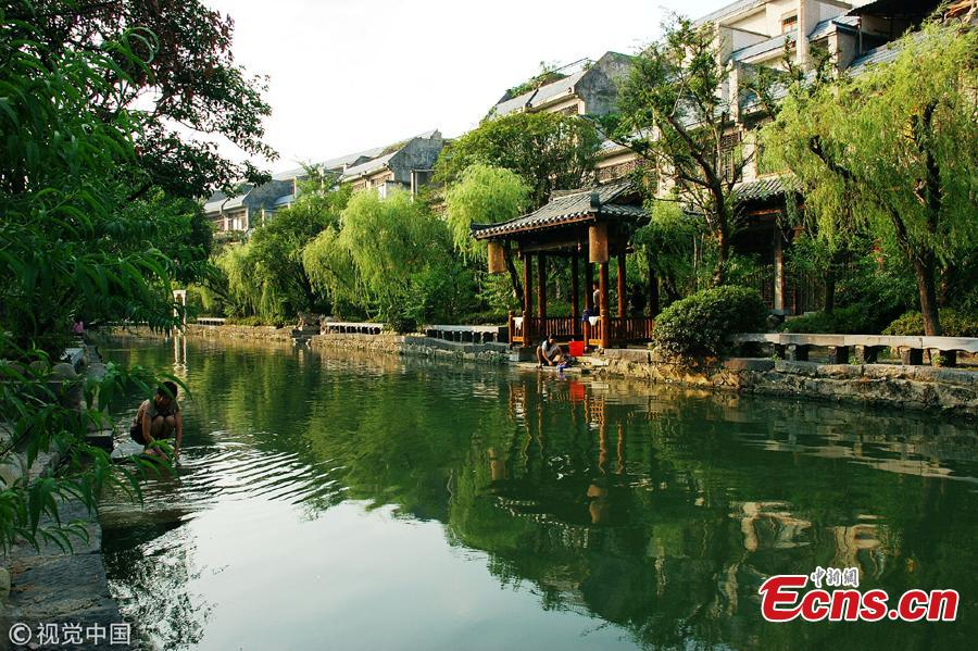 File photo of Lingqu Canal, one of the oldest and well-preserved ancient water conservation projects in the world. (Photo/VCG)
