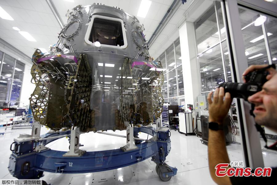 The SpaceX space craft Crew Dragon is shown being built inside a cleanroom at SpaceX headquarters in Hawthorne, California, U.S. August 13, 2018.(Photo/Agencies
