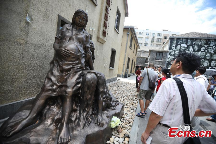 People visit a museum founded on the former site of a \