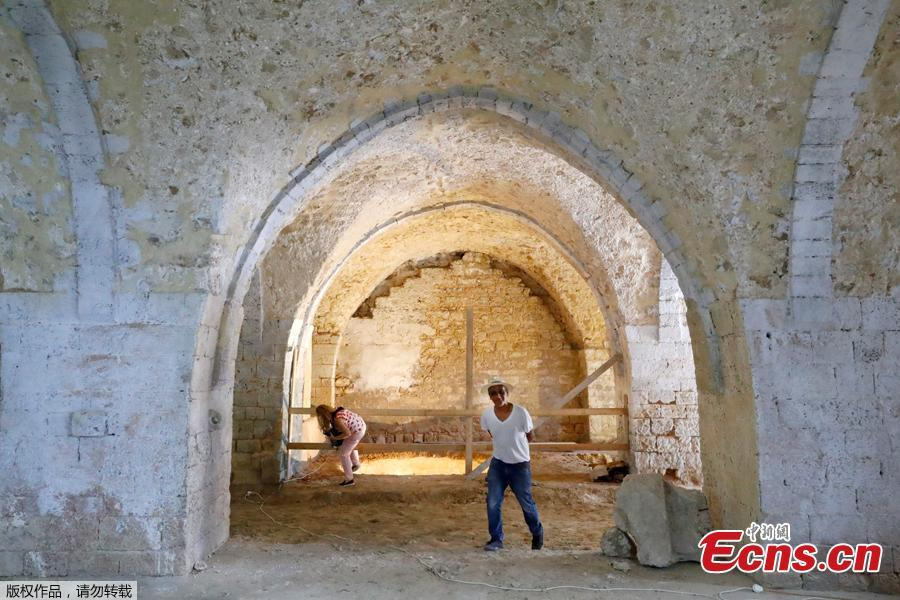 A view of a soap factory dating to the 19th century found during work at the new Uri Geller Museum in Jaffa. Archaeologists have unearthed an Ottoman-era soap factory and a number of large underground vaults in the ancient port city of Jaffa, the Israel Antiquities Authority announced Tuesday. (Photo/Agencies)