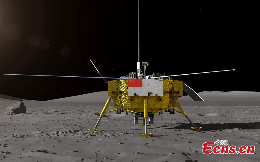 Photo provided by the lunar exploration project center at the State Administration of Science, Technology and Industry for National Defense shows the rover that will be used in China's Chang\'e-4 lunar mission. The center kicked off a global contest in Beijing on Aug. 15, 2018 to find a name for the Chang\'e-4 rover. (Photo provided to China News Service)