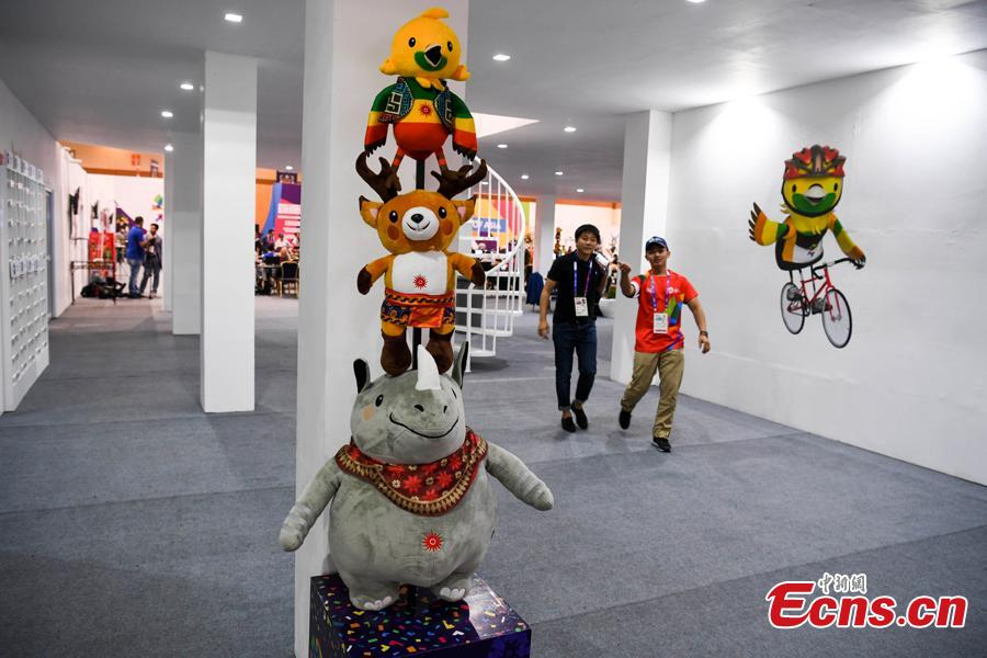 A view of the press center for the 18thAsian Games in Palembang, Indonesia, Aug. 15, 2018. A total of 11,300 athletes from 45 National Olympic Committees will compete in the Asian Games set to be played from August 18 to September 2, according to the latest data from the Olympic Council of Asia. (Photo: China News Service/Yang Huafeng)
