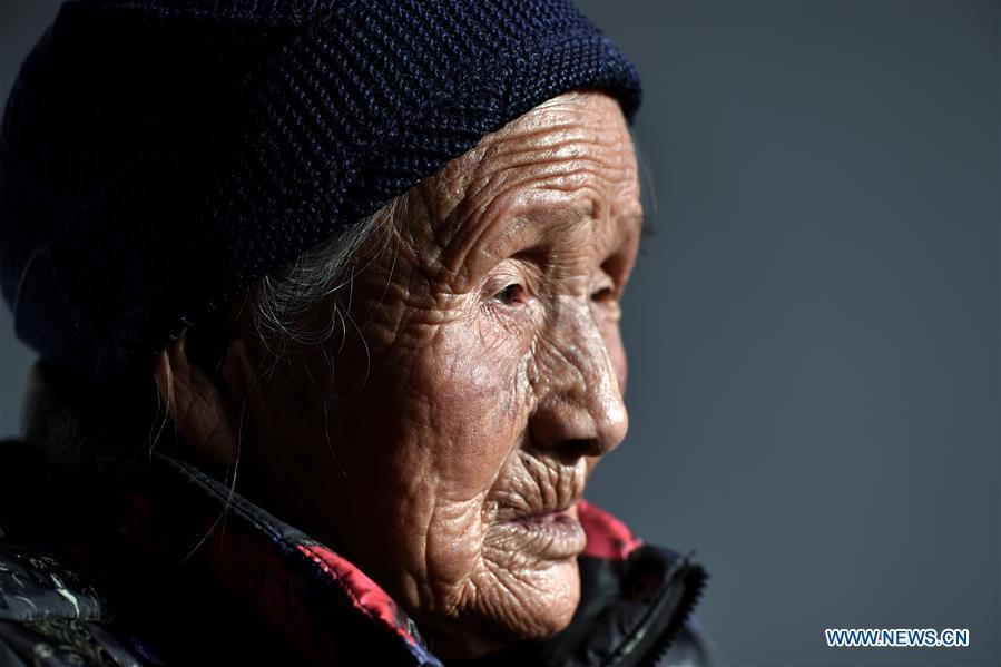 90-year-old Pian Huanying is seen at home in Nuanquan Village of Qinxian County, north China\'s Shanxi Province, March 19, 2018. In the autumn of 1942, Pian has been abducted and abused by Japanese invaders. She was rescued by her relatives about 20 days later. After that, she was captured for three times. Women forced into sexual slavery by the Imperial Japanese Army before and during World War II were called \