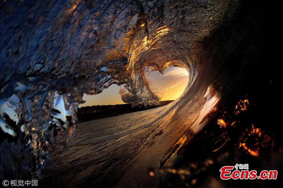 <?php echo strip_tags(addslashes(File photo shows heart-shaped wave.(Photo/VCG))) ?>