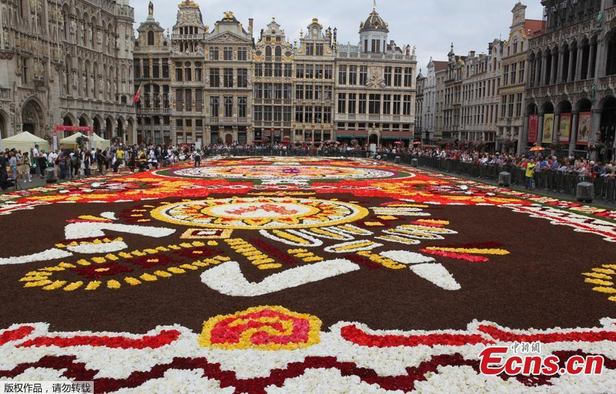 A 1,800 square meters flower carpet on the theme \