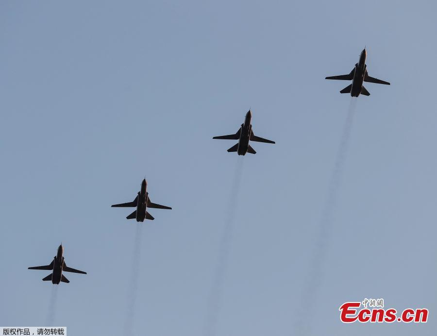 Ukrainian military planes fly during a rehearsal for the Independence Day military parade in central Kiev, Ukraine August 20, 2018. (Photo/Agencies)