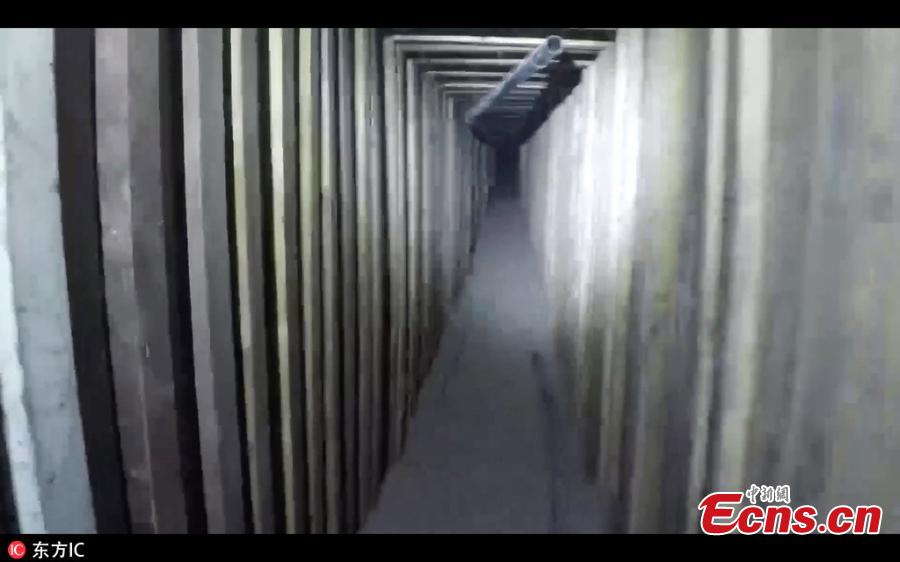 US authorities have found a secret drug tunnel stretching from a former KFC in the state of Arizona to Mexico. The building\'s owner was arrested after the 180m passageway was discovered in the basement of the old restaurant in San Luis, leading under the border to a home in San Luis Rio Colorado. (Photo/IC)