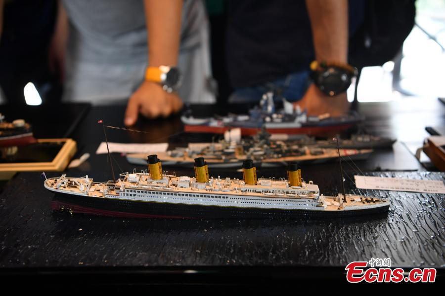 Model ships are on show at an event in Kunming City, Southwest China's Yunnan Province, Aug. 25, 2018. Judges were invited score the models, which were replicas of various vessels, including warships. (Photo: China News Service/Liu Ranyang)