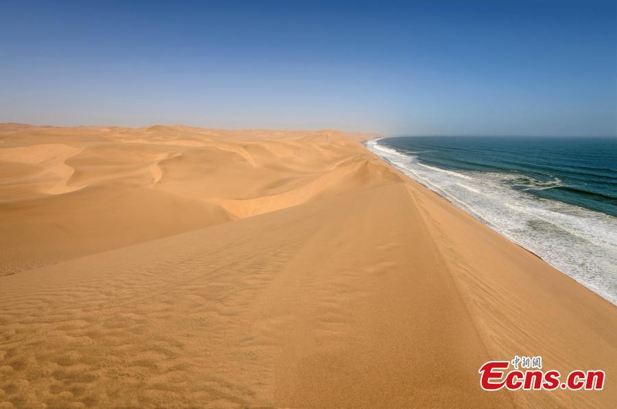 The amazing landscape in Namibia. (Photo provided to China News Service)