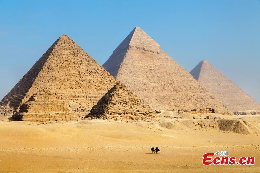 The pyramids in Egypt. (Photo provided to China News Service)