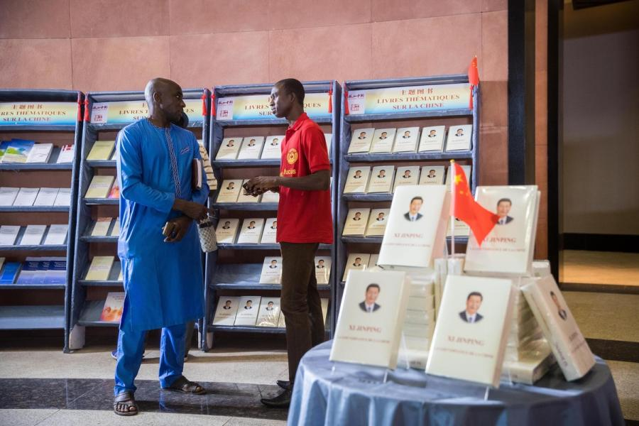 Xi Jinping: The Governance of China is on prominent display during an exhibition in Senegal in July. The book, which outlines the political ideas of the leadership, contains 79 speeches, talks, interviews, notes and letters of the top Chinese leader between November 2012 and June 2014. (Photo/Xinhua)