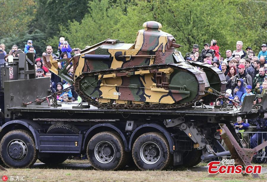 A Renault FT-17 historical light tank is seen during the Tank Day 2018 in Lesany, Czech Republic, on Sept. 1, 2018. (Photo/Agencies)
