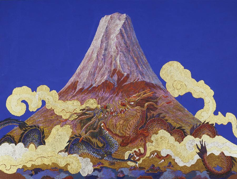 Blue Sky, Mount. Fuji, and Flying Dragons, 2010. (Photo provided to China Daily)