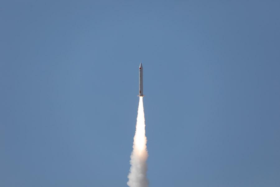 Beijing tech company i-Space has used its own carrier rocket to launch three satellites into space from the Gobi Desert on Sept. 5, 2018. (Photo/chinadaily.com.cn)