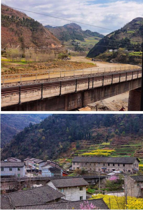 Baocheng Railway in mountainous northern Sichuan 2017 (Photo by Bruce Connolly/chinadaily.com.cn)