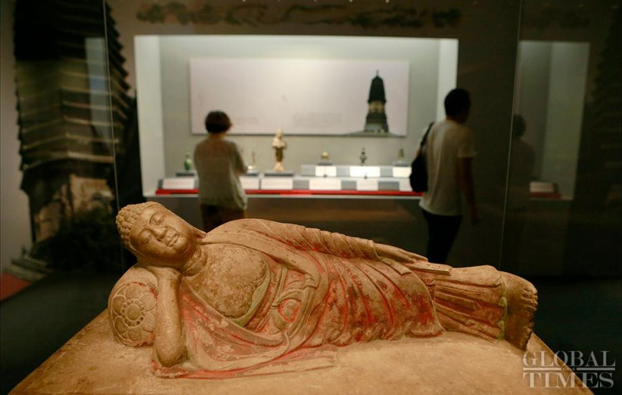 An exhibition showcasing some 270 Liao Dynasty (907-1125) relics from Inner Mongolia Autonomous Region, Beijing and Liaoning Province kicked off at Beijing\'s Capital Museum on Thursday. The show provides insight into the history and culture of the ancient nomadic group Khitan, founder of the Liao Dynasty. (Photos: Li Hao/GT)
