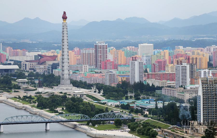 Photos show the urban landscape of Pyongyang. (Photo: Cui Meng/GT)