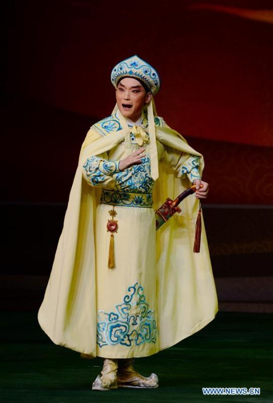A Beijing Opera performance about the ancient Silk Road is staged during the 5th Silk Road International Arts Festival in Xi\'an, capital of northwest China\'s Shaanxi Province, Sept. 7, 2018. The arts festival opened in Xi\'an Friday.(Xinhua/Li Yibo)