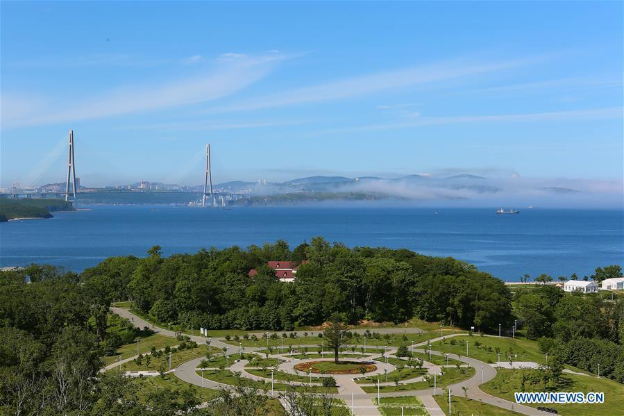 Photo taken on Sept. 9, 2018 shows a view of Far East Federal University in Vladivostok, Russia. (Xinhua/Wu Gang)