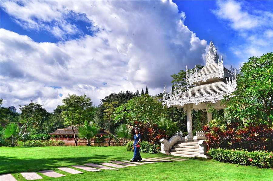 A view of Manting Garden in Xishuangbanna, Yunnan Province. (Photo provided to chinadaily.com.cn)