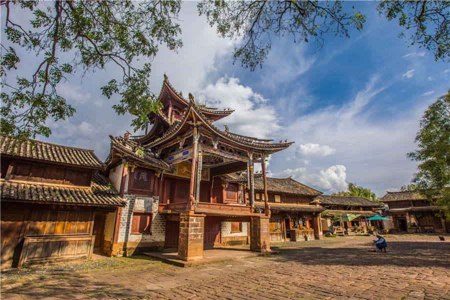 A view of Shaxi ancient town in Jianchuan county, Yunnan Province. (Photo provided to chinadaily.com.cn)