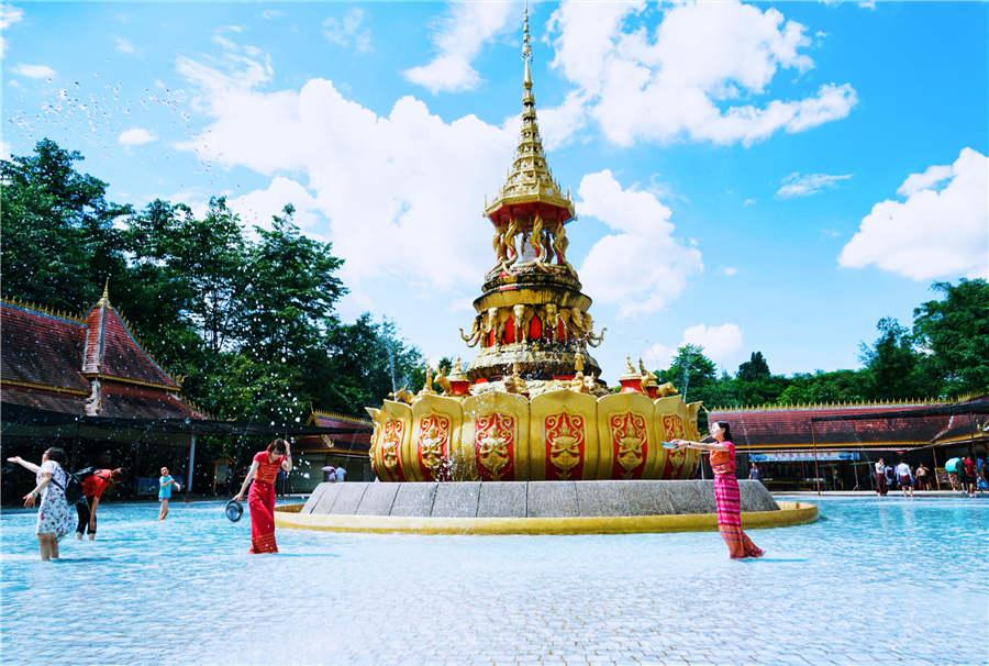 A view of Mengle Buddhist Temple in Xishuangbanna, Yunnan Province.  (Photo provided to chinadaily.com.cn)