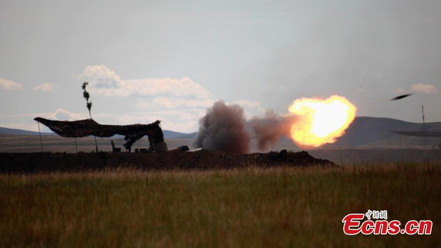 Photo taken on Sept. 13, 2018 shows the Vostok-2018 (East-2018) military exercise at the Tsugol training range in the Trans-Baikal region in Russia. The drills are aimed at consolidating and developing the China-Russia comprehensive strategic partnership of coordination, deepening pragmatic and friendly cooperation between the two armies, and further strengthening their ability to jointly deal with varied security threats, the Chinese Ministry of National Defense announced. (Photo: China News Service/Li Chun)