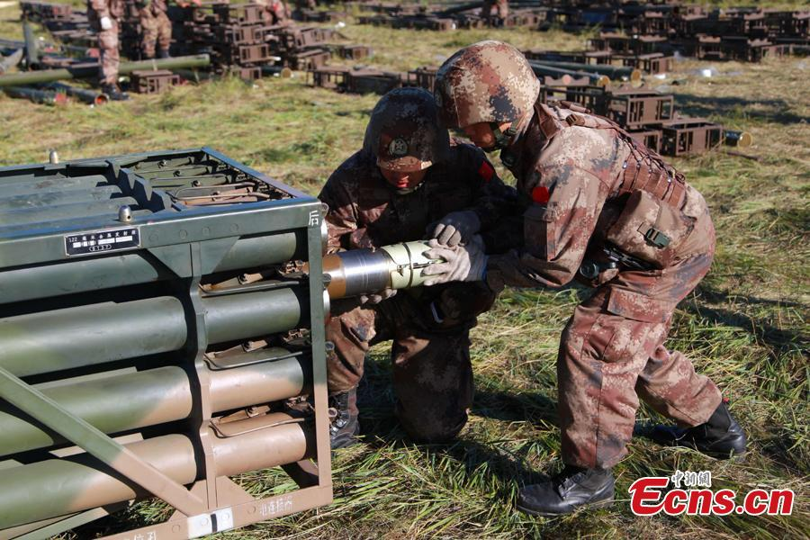 Chinese soldiers participate in the Vostok-2018 (East-2018) military exercise at the Tsugol training range in the Trans-Baikal region in Russia, Sept. 13, 2018. The drills are aimed at consolidating and developing the China-Russia comprehensive strategic partnership of coordination, deepening pragmatic and friendly cooperation between the two armies, and further strengthening their ability to jointly deal with varied security threats, the Chinese Ministry of National Defense announced. (Photo: China News Service/Li Chun)