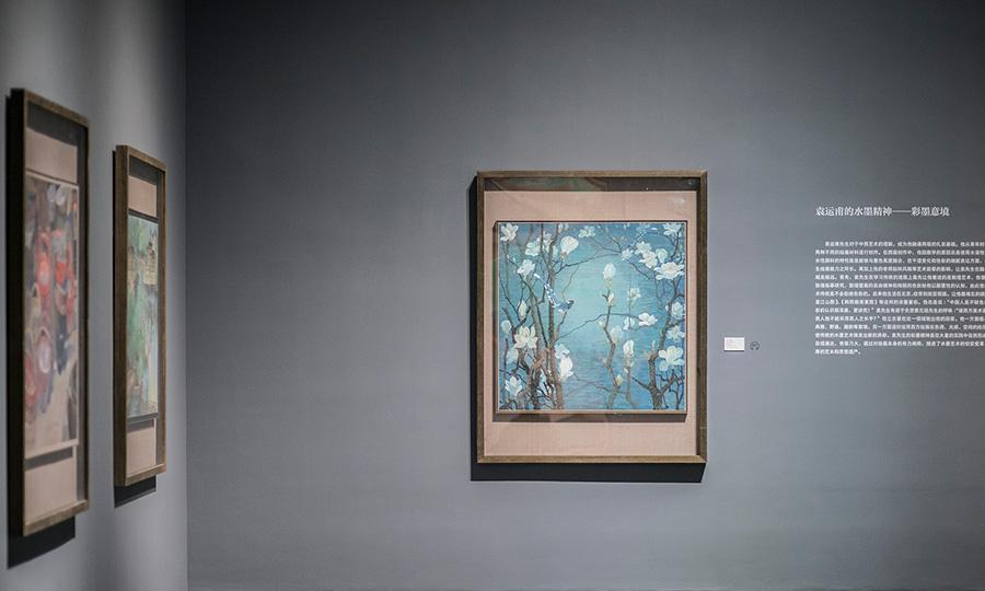 The exhibition, which runs until Oct. 7, is titled Glory and displays more than 120 of Yuan\'s paintings, including the donated piece, marking his devotion to China\'s decorative art. (Photo provided to China Daily)