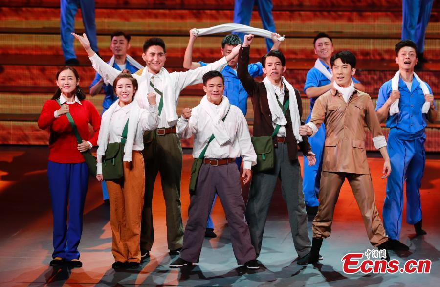 Performers take part in an evening gala to celebrate the 60th anniversary of the founding of the Ningxia Hui autonomous region in Yinchuan on Sept 19, 2018.