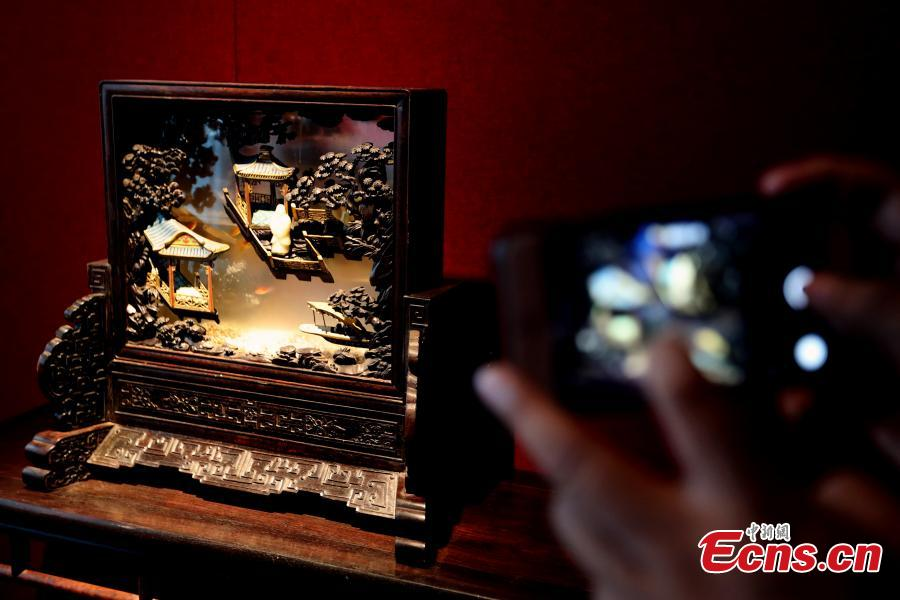 The Palace Museum in Beijing puts more than 300 pieces of furniture from the Qing Dynasty (1644-1911) on display, Sept. 19, 2018. With more areas to be opened in the future, the furniture-themed exhibition at Nandaku, or \