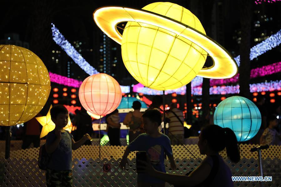 Fancy lanterns displayed to greet Mid-Autumn Festival in