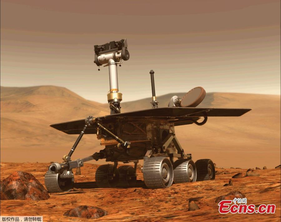 This computer generated image obtained on August 31, 2018 shows the Opportunity rover of NASA part of the Mars planet exploration program. NASA\'s Opportunity rover has been silent since June 10, when a planet-encircling dust storm cut off solar power for the nearly-15-year-old rover. Now that scientists think the global dust storm is \
