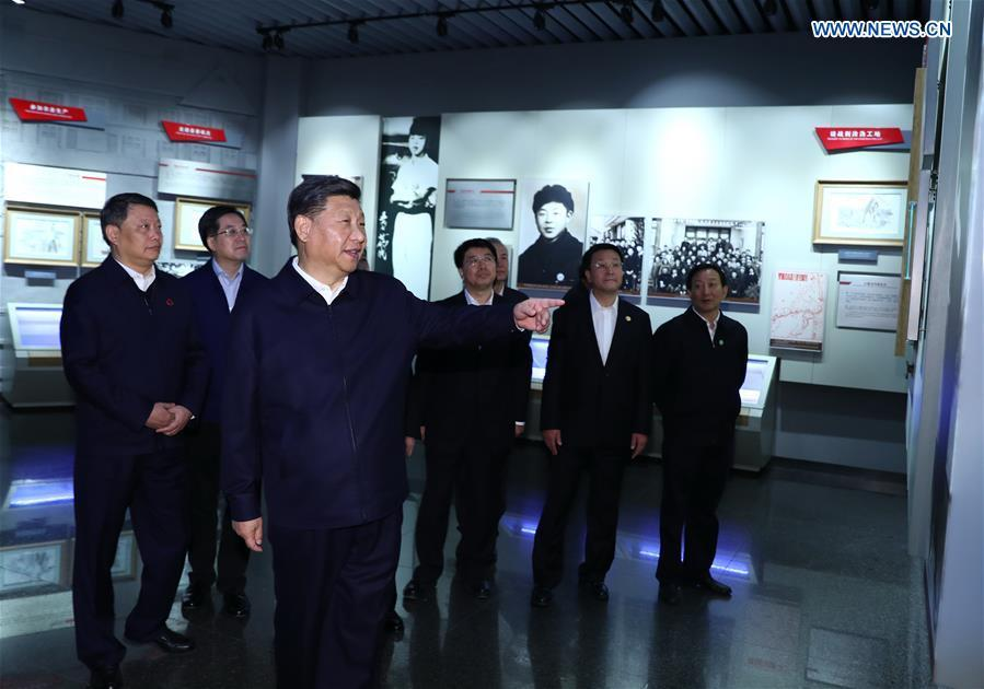 Chinese President Xi Jinping, also general secretary of the Communist Party of China (CPC) Central Committee and chairman of the Central Military Commission, visits Lei Feng Memorial Hall in Fushun, northeast China\'s Liaoning Province, Sept. 28, 2018. (Xinhua/Xie Huanchi)