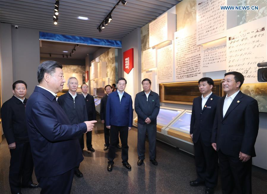 Chinese President Xi Jinping, also general secretary of the Communist Party of China (CPC) Central Committee and chairman of the Central Military Commission, visits Lei Feng Memorial Hall in Fushun, northeast China\'s Liaoning Province, Sept. 28, 2018. (Xinhua/Ju Peng)